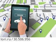 Купить «Concept of car ordering online», фото № 30506956, снято 15 июля 2019 г. (c) Elnur / Фотобанк Лори