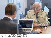 Купить «Financial advisor consulting senior client with his investment strategy.», фото № 30523976, снято 22 апреля 2019 г. (c) Matej Kastelic / Фотобанк Лори