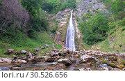 Купить «Oniore Waterfall in Georgia», видеоролик № 30526656, снято 10 марта 2019 г. (c) Serg Zastavkin / Фотобанк Лори