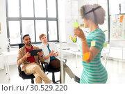 Купить «creative team at office presentation», фото № 30529220, снято 11 марта 2018 г. (c) Syda Productions / Фотобанк Лори