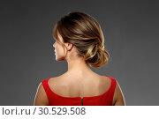 Купить «portrait of beautiful young woman in red dress», фото № 30529508, снято 20 января 2019 г. (c) Syda Productions / Фотобанк Лори