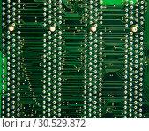 Купить «Computer motherboard circuit», фото № 30529872, снято 26 января 2010 г. (c) Tryapitsyn Sergiy / Фотобанк Лори
