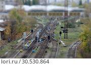Купить «Rail road», фото № 30530864, снято 25 октября 2009 г. (c) Tryapitsyn Sergiy / Фотобанк Лори
