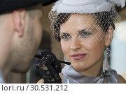Купить «Retro woman looking at her husband», фото № 30531212, снято 4 июня 2010 г. (c) Tryapitsyn Sergiy / Фотобанк Лори