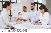 Купить «recruiters having interview with employee», видеоролик № 30532048, снято 29 марта 2019 г. (c) Syda Productions / Фотобанк Лори