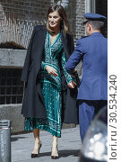 Купить «Queen Letizia of Spain attends the Inauguration of the accessibility works carried out in the Real Monasterio de la Encarnacion on April 10, 2019 in Madrid, Spain.10/04/2019.», фото № 30534240, снято 10 апреля 2019 г. (c) age Fotostock / Фотобанк Лори