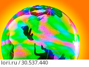 Купить «Colorful glass globe with shining», фото № 30537440, снято 24 июня 2011 г. (c) Tryapitsyn Sergiy / Фотобанк Лори