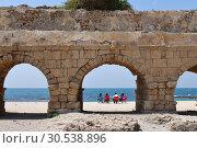 Купить «Roman aqueducts Caesarea Maritima Israel», фото № 30538896, снято 4 апреля 2019 г. (c) Знаменский Олег / Фотобанк Лори