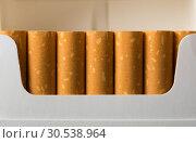 Купить «Cigarettes in pack», фото № 30538964, снято 9 августа 2012 г. (c) Tryapitsyn Sergiy / Фотобанк Лори