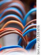 Colorful electrical wires. Стоковое фото, фотограф Tryapitsyn Sergiy / Фотобанк Лори