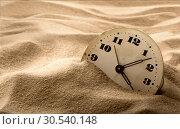 Купить «Face of clock in sand», фото № 30540148, снято 12 июня 2013 г. (c) Tryapitsyn Sergiy / Фотобанк Лори