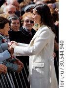 Купить «Queen Letizia attends the opening of Angeli exhibition of sacred art in Lerma, Spain on the 11/04/2019», фото № 30544940, снято 11 апреля 2019 г. (c) age Fotostock / Фотобанк Лори