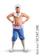 Man weared as baby full body. Стоковое фото, фотограф Tryapitsyn Sergiy / Фотобанк Лори