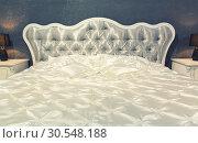 Купить «Nice bed in typical contemporary setting», фото № 30548188, снято 29 мая 2014 г. (c) Tryapitsyn Sergiy / Фотобанк Лори