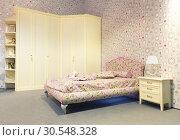Купить «Nice bed in typical contemporary setting», фото № 30548328, снято 29 мая 2014 г. (c) Tryapitsyn Sergiy / Фотобанк Лори