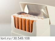 Купить «Box of cigarettes», фото № 30549108, снято 6 сентября 2014 г. (c) Tryapitsyn Sergiy / Фотобанк Лори