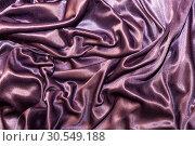 Abstract monochrome elegant silk satin purple violet background with fabric texture. Стоковое фото, фотограф Светлана Евграфова / Фотобанк Лори
