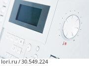 Control panel of gas boiler. Стоковое фото, фотограф Tryapitsyn Sergiy / Фотобанк Лори