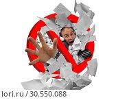 Купить «Paperwork forbidden sign», фото № 30550088, снято 19 ноября 2014 г. (c) Tryapitsyn Sergiy / Фотобанк Лори