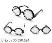 Купить «Set of nerd glasses», фото № 30550624, снято 18 декабря 2014 г. (c) Tryapitsyn Sergiy / Фотобанк Лори