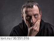 Купить «Exhausted man», фото № 30551016, снято 5 марта 2015 г. (c) Tryapitsyn Sergiy / Фотобанк Лори