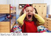 Little girl screaming. Стоковое фото, фотограф Tryapitsyn Sergiy / Фотобанк Лори