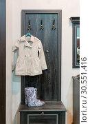 Купить «Coat and wellington boot», фото № 30551416, снято 11 марта 2015 г. (c) Tryapitsyn Sergiy / Фотобанк Лори