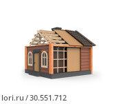 Купить «House on white», фото № 30551712, снято 17 июня 2019 г. (c) Tryapitsyn Sergiy / Фотобанк Лори