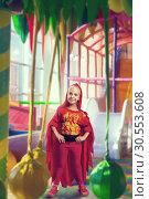 Купить «Smiling little girl in costume», фото № 30553608, снято 8 августа 2015 г. (c) Tryapitsyn Sergiy / Фотобанк Лори