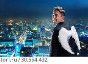 Купить «Businessman-angel», фото № 30554432, снято 13 января 2016 г. (c) Tryapitsyn Sergiy / Фотобанк Лори