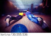 Купить «Couple lying on the floor», фото № 30555536, снято 27 мая 2020 г. (c) Tryapitsyn Sergiy / Фотобанк Лори