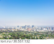 Купить «View of Los Angeles city», фото № 30557132, снято 7 июля 2016 г. (c) Tryapitsyn Sergiy / Фотобанк Лори