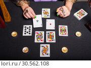 Купить «Sorceress telling fortunes», фото № 30562108, снято 27 июля 2016 г. (c) Tryapitsyn Sergiy / Фотобанк Лори