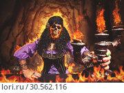 Купить «Sorceress burning away», фото № 30562116, снято 27 июля 2016 г. (c) Tryapitsyn Sergiy / Фотобанк Лори