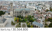 Купить «Famous gothic cathedral in Limoges city in France, Europe», видеоролик № 30564800, снято 26 октября 2018 г. (c) Яков Филимонов / Фотобанк Лори