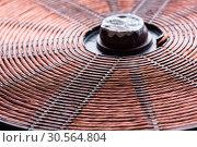 Купить «Induction heater copper coil closeup», фото № 30564804, снято 24 января 2017 г. (c) Tryapitsyn Sergiy / Фотобанк Лори