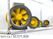 Air fans, ventilation, exhibition sample. Стоковое фото, фотограф Tryapitsyn Sergiy / Фотобанк Лори