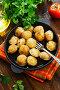 Купить «Dumplings in the frying pan», фото № 30578656, снято 12 апреля 2019 г. (c) Надежда Мишкова / Фотобанк Лори