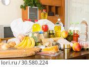 Купить «Provision with vegetables and meat», фото № 30580224, снято 20 мая 2019 г. (c) Яков Филимонов / Фотобанк Лори