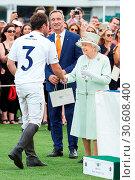 Купить «Guards Polo Club Windsor Royal Bentley Motors Cup Final and British Driving Society Annual Show Featuring: Queen Elizabeth II, Oliver Cudmore Where: Windsor...», фото № 30608400, снято 25 июня 2017 г. (c) age Fotostock / Фотобанк Лори