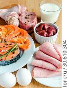 Купить «Ingredients for protein diet», фото № 30610304, снято 3 августа 2013 г. (c) easy Fotostock / Фотобанк Лори