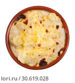 Купить «Cauliflower and cheese casserole», фото № 30619028, снято 20 мая 2019 г. (c) Яков Филимонов / Фотобанк Лори
