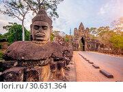 Купить «Sculptures in the South Gate of Angkor Wat, Siem Reap, Cambodia.», фото № 30631364, снято 5 января 2017 г. (c) easy Fotostock / Фотобанк Лори