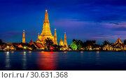 Купить «Wat Arun temple in Bangkok, Thailand.», фото № 30631368, снято 8 августа 2017 г. (c) easy Fotostock / Фотобанк Лори