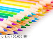 Купить «Many different colored pencils.», фото № 30633884, снято 29 августа 2017 г. (c) easy Fotostock / Фотобанк Лори