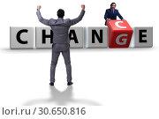 Купить «Businessman in change and chance concept», фото № 30650816, снято 13 декабря 2019 г. (c) Elnur / Фотобанк Лори