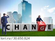 Купить «Businessman taking chance for change», фото № 30650824, снято 13 декабря 2019 г. (c) Elnur / Фотобанк Лори