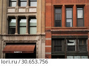 Купить «Windows of apartment building, New York City, New York State, USA», фото № 30653756, снято 26 апреля 2016 г. (c) Ingram Publishing / Фотобанк Лори
