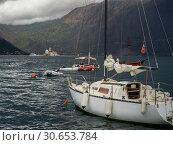 Купить «Boats in bay, Perast, Bay of Kotor, Montenegro», фото № 30653784, снято 3 июня 2020 г. (c) Ingram Publishing / Фотобанк Лори
