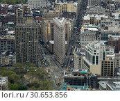 Купить «Aerial view of cityscape, Midtown Manhattan, New York City, New York State, USA», фото № 30653856, снято 8 декабря 2019 г. (c) Ingram Publishing / Фотобанк Лори